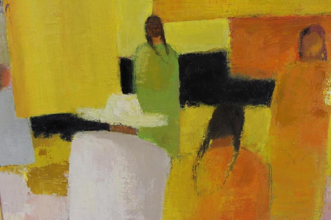 """CATHELIN, Bernard. Oil on Canvas """"Marche - 7"""