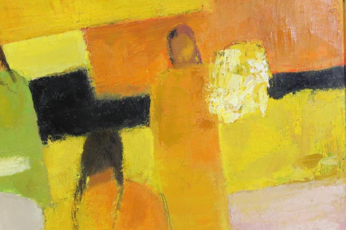 """CATHELIN, Bernard. Oil on Canvas """"Marche - 8"""