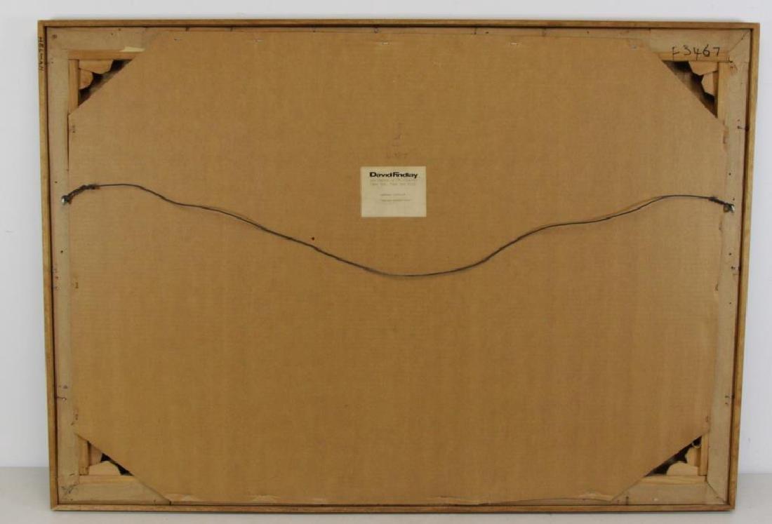 """CATHELIN, Bernard. Oil on Canvas """"Marche - 9"""