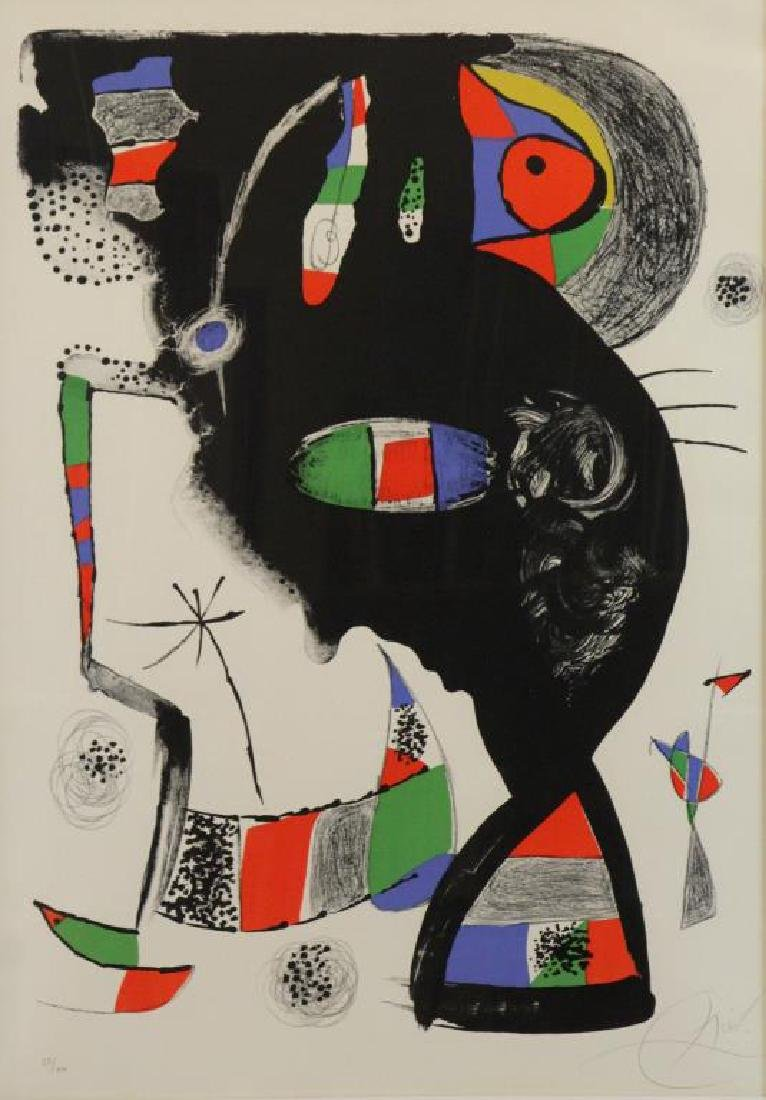 "MIRO, Joan. Color Lithograph ""42, Rue Blomet""."