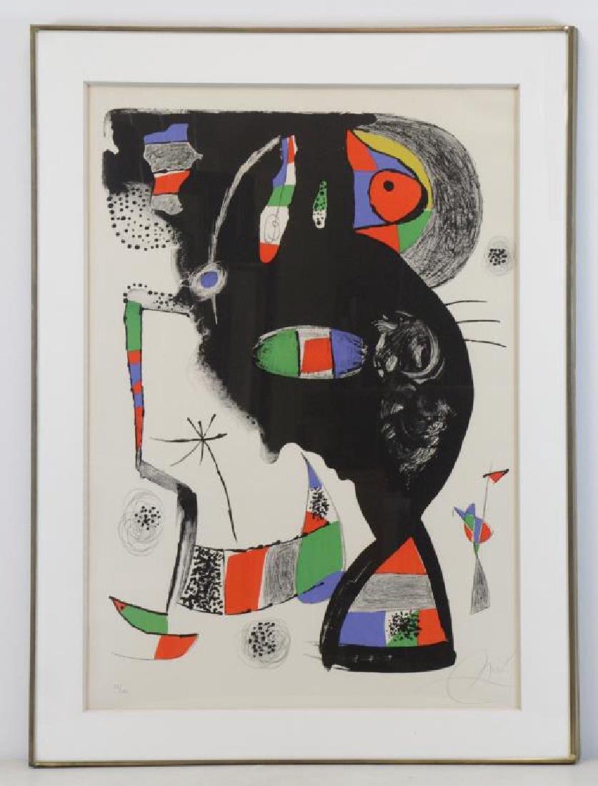 "MIRO, Joan. Color Lithograph ""42, Rue Blomet"". - 2"