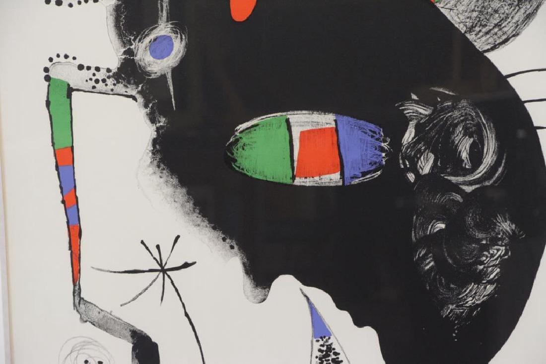 "MIRO, Joan. Color Lithograph ""42, Rue Blomet"". - 3"