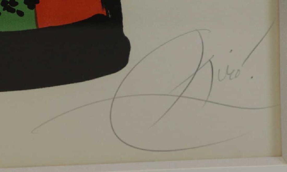 "MIRO, Joan. Color Lithograph ""42, Rue Blomet"". - 4"