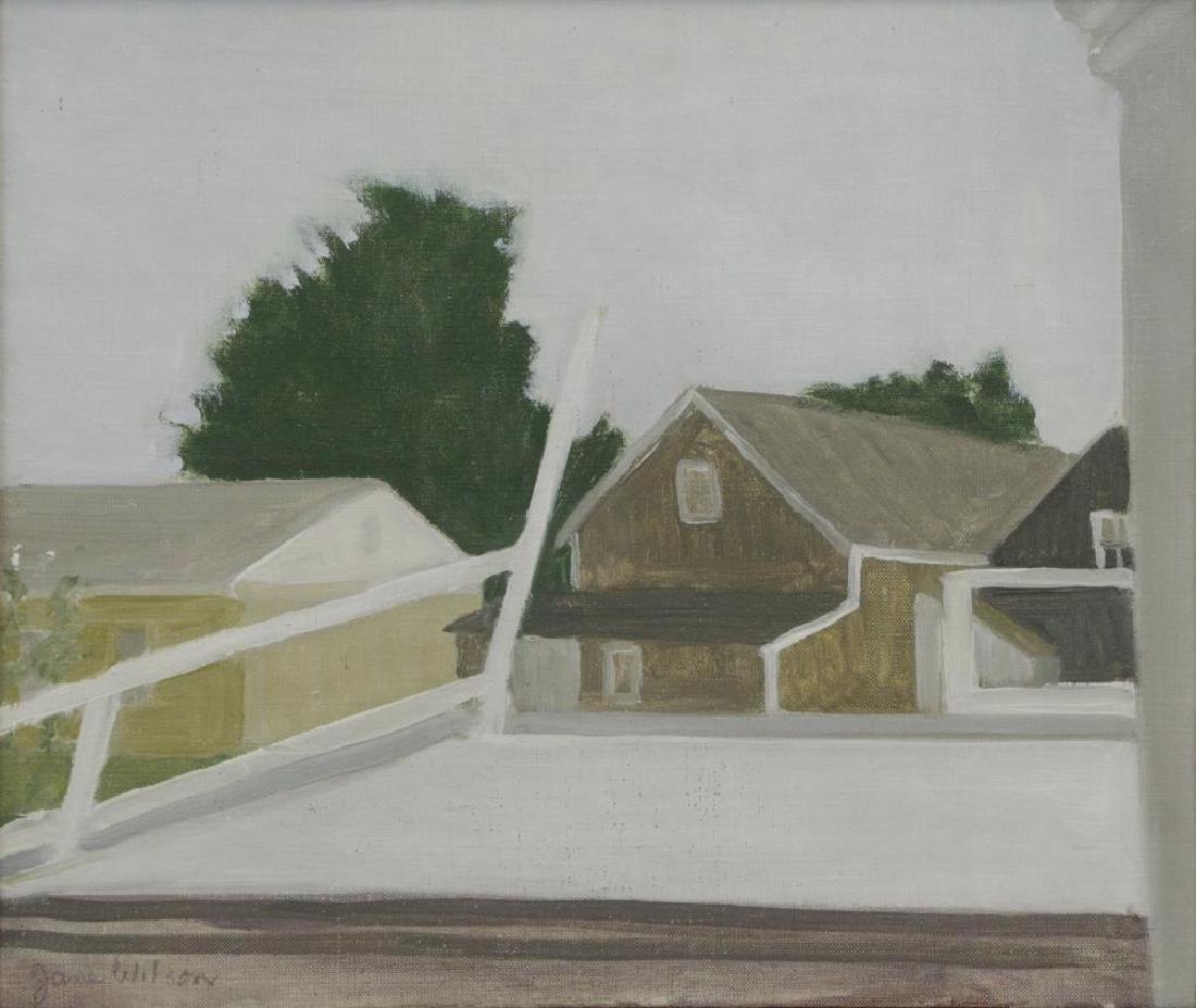 "WILSON, Jane. Oil on Canvas ""Railroad Platform"""