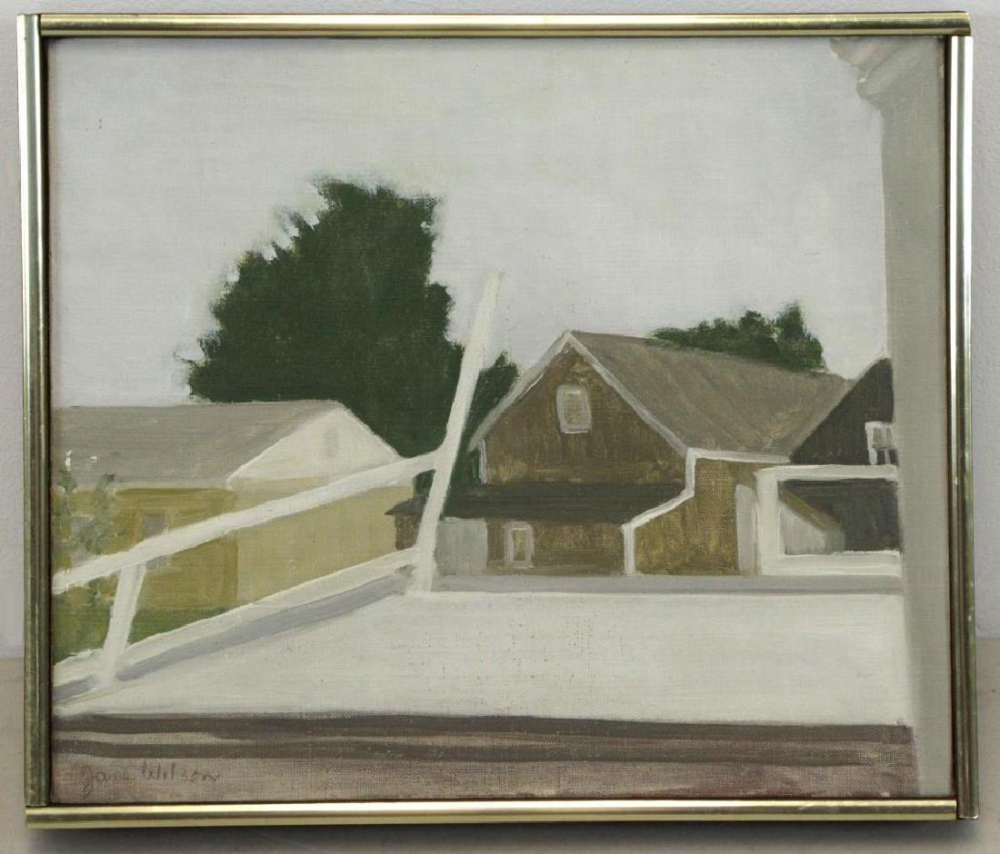 "WILSON, Jane. Oil on Canvas ""Railroad Platform"" - 2"