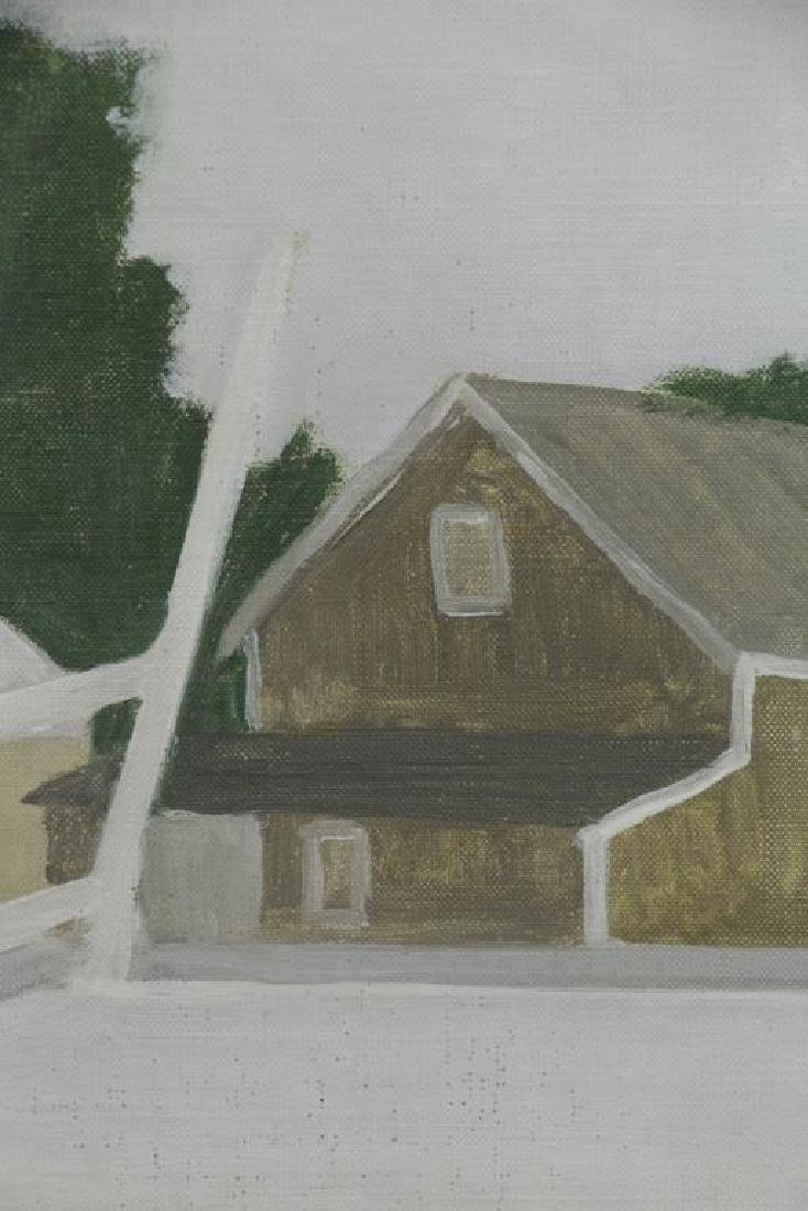 "WILSON, Jane. Oil on Canvas ""Railroad Platform"" - 3"