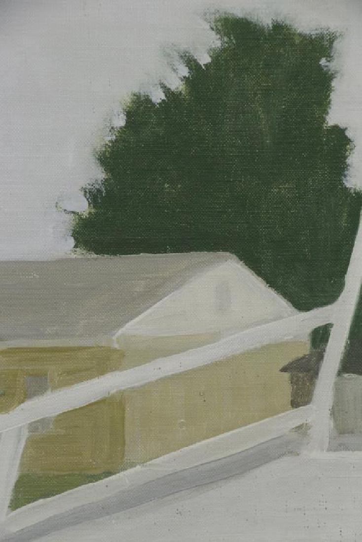 "WILSON, Jane. Oil on Canvas ""Railroad Platform"" - 4"