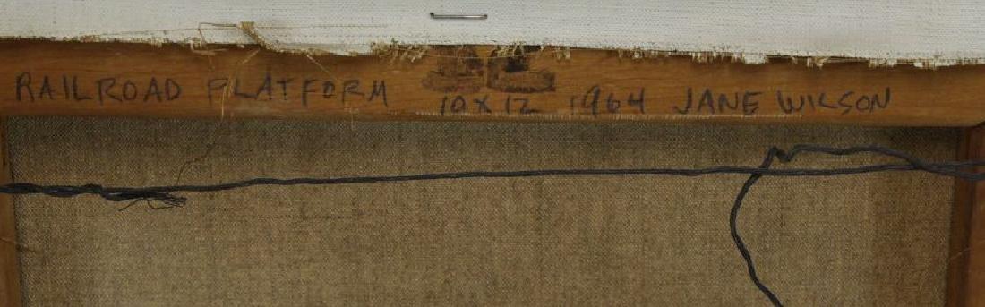 "WILSON, Jane. Oil on Canvas ""Railroad Platform"" - 7"