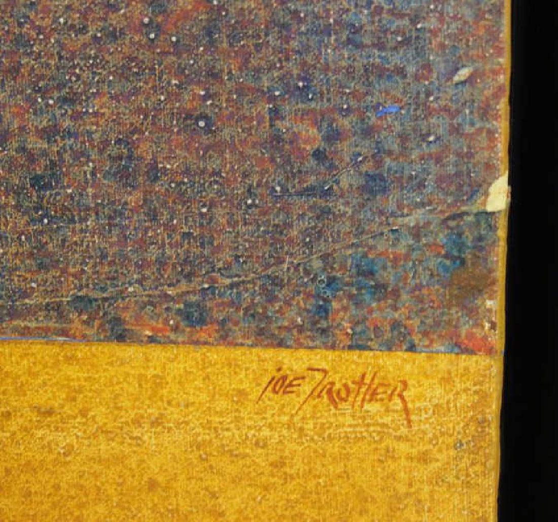 "TROTTER, Joe. Acrylic on Canvas. ""Tulsa."" - 4"