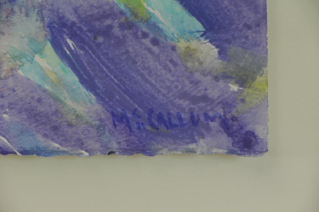 """MCCALLUM, Corrie. Acrylic on Paper. """"Rondelay"""". - 4"""