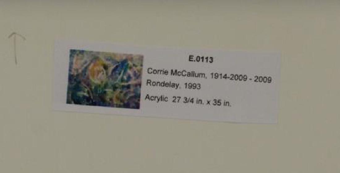 """MCCALLUM, Corrie. Acrylic on Paper. """"Rondelay"""". - 6"""
