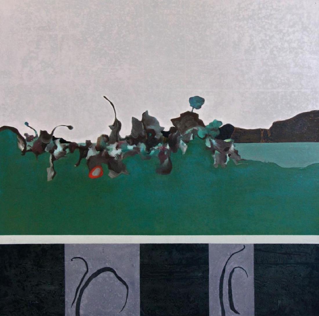 "LABARTHE, Philippe. Oil on Canvas. ""Hatless"