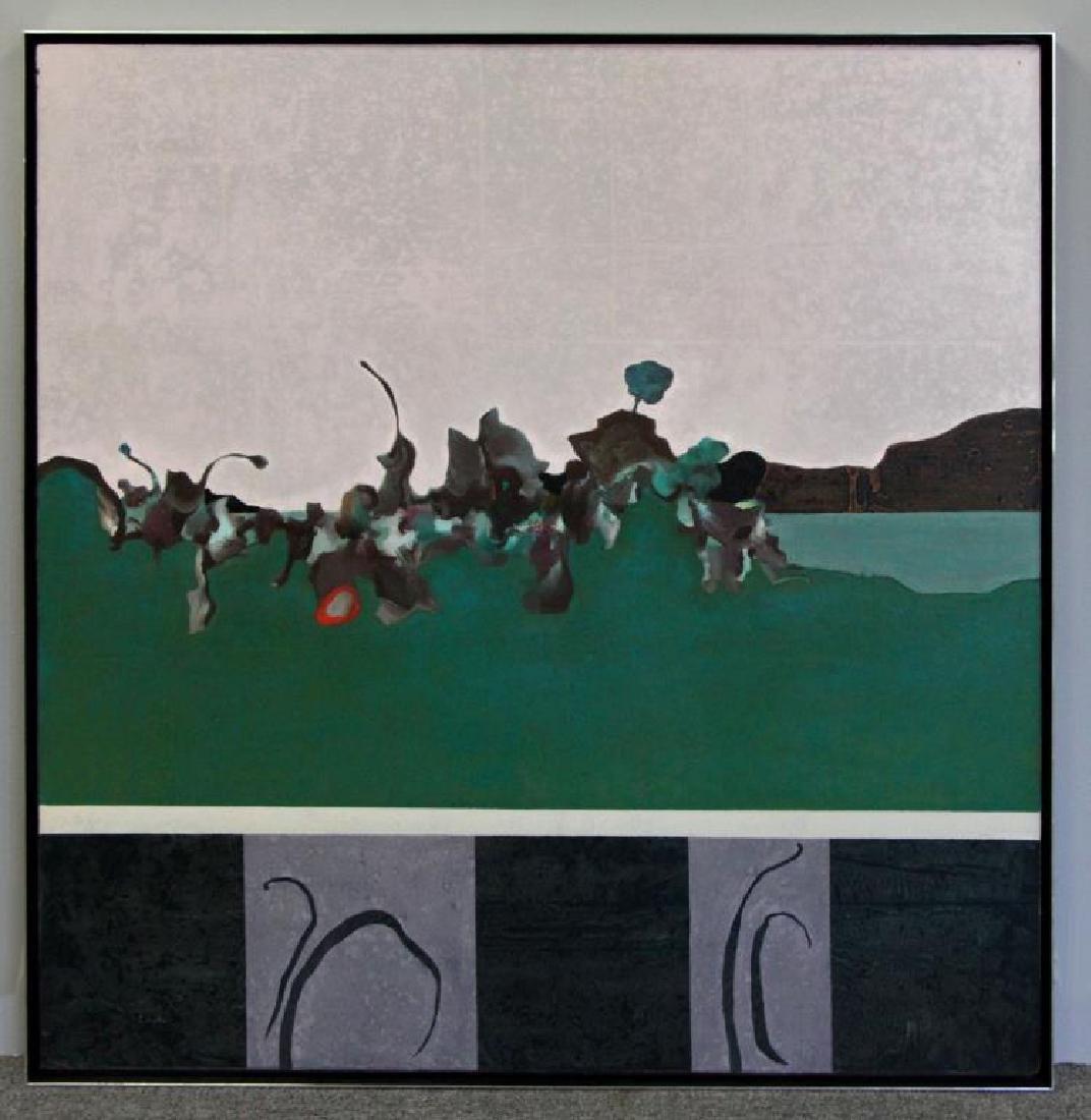 "LABARTHE, Philippe. Oil on Canvas. ""Hatless - 2"