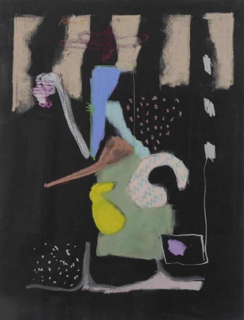 KLEIMAN, George. Pastel on Black Paper. Untitled
