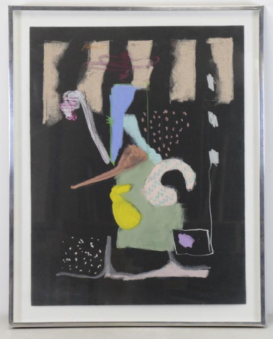 KLEIMAN, George. Pastel on Black Paper. Untitled - 2