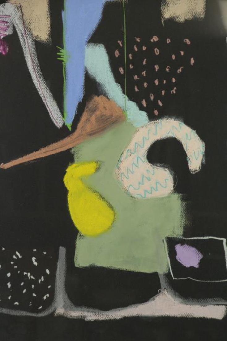 KLEIMAN, George. Pastel on Black Paper. Untitled - 3