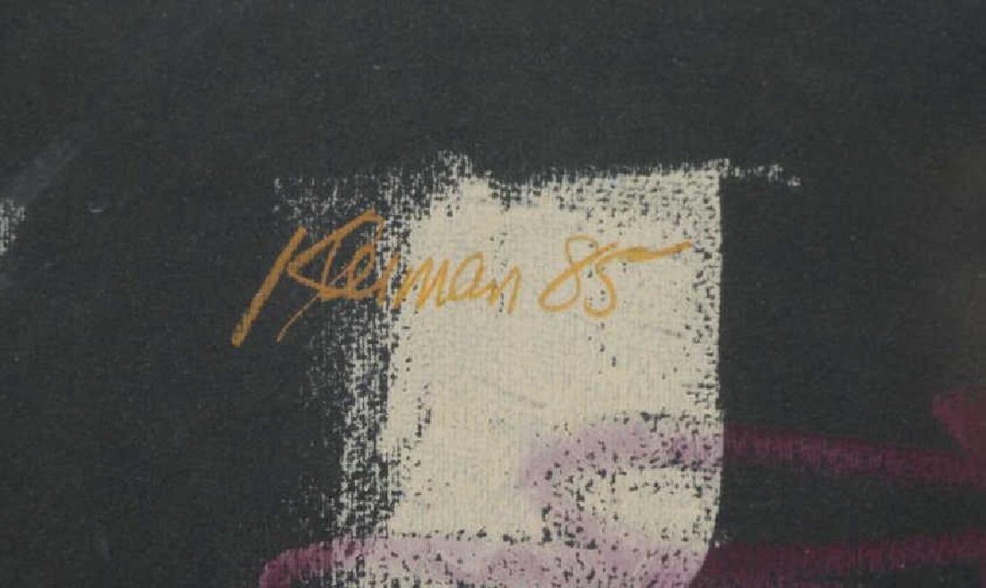 KLEIMAN, George. Pastel on Black Paper. Untitled - 4