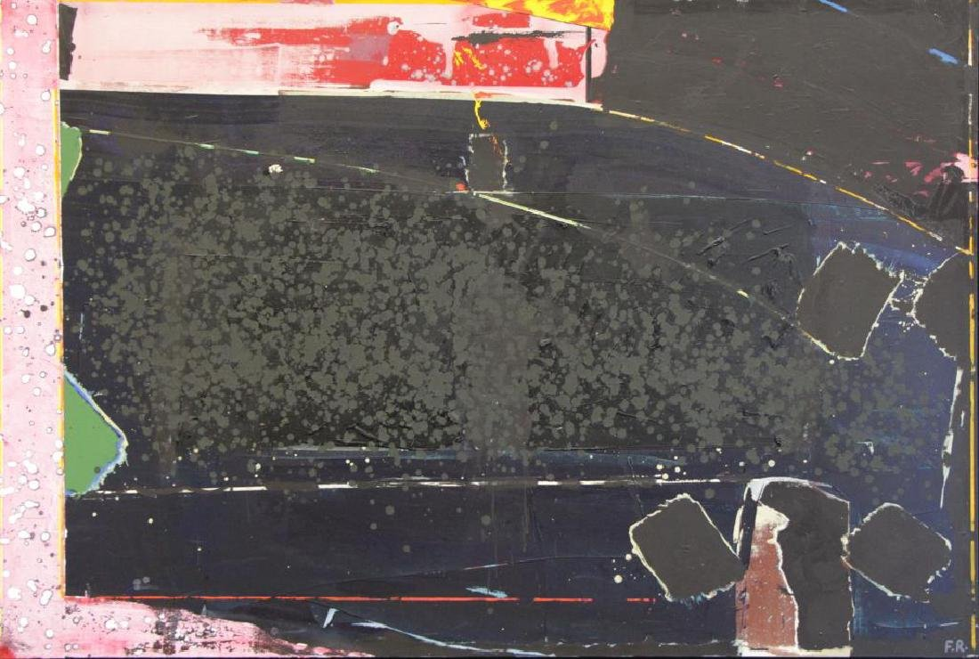 ROTH, Frank. Acrylic on Canvas. Untitled Abstract.