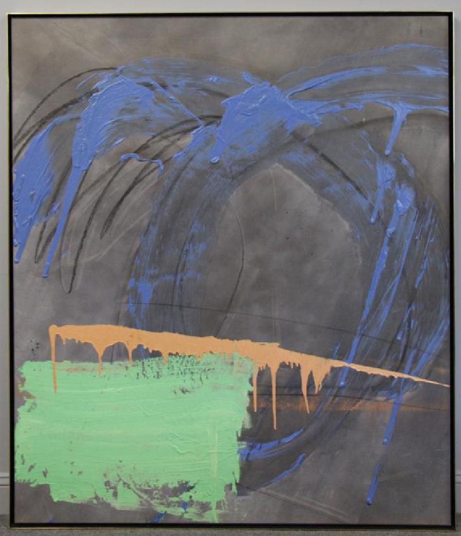 "TINT, Francine. Acrylic on Canvas. ""Horseracing"". - 2"