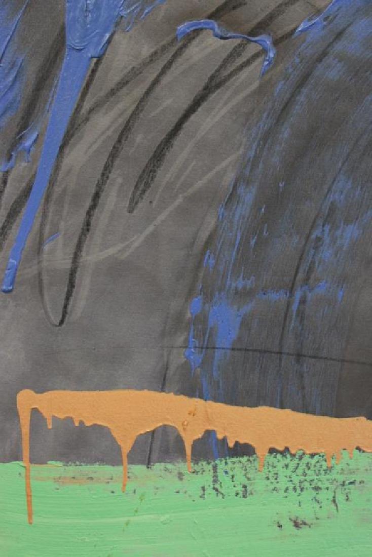 "TINT, Francine. Acrylic on Canvas. ""Horseracing"". - 3"