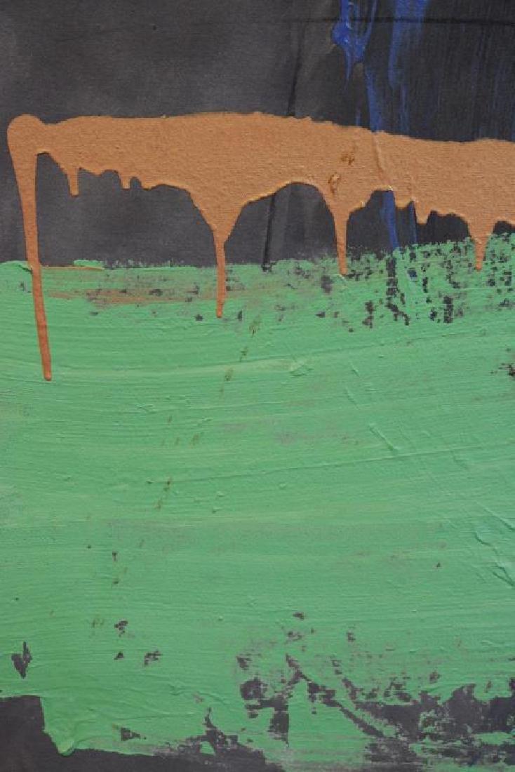 "TINT, Francine. Acrylic on Canvas. ""Horseracing"". - 5"