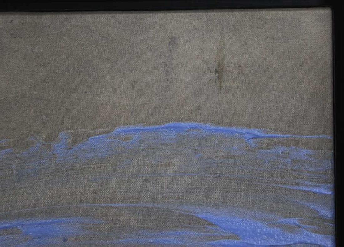"TINT, Francine. Acrylic on Canvas. ""Horseracing"". - 6"