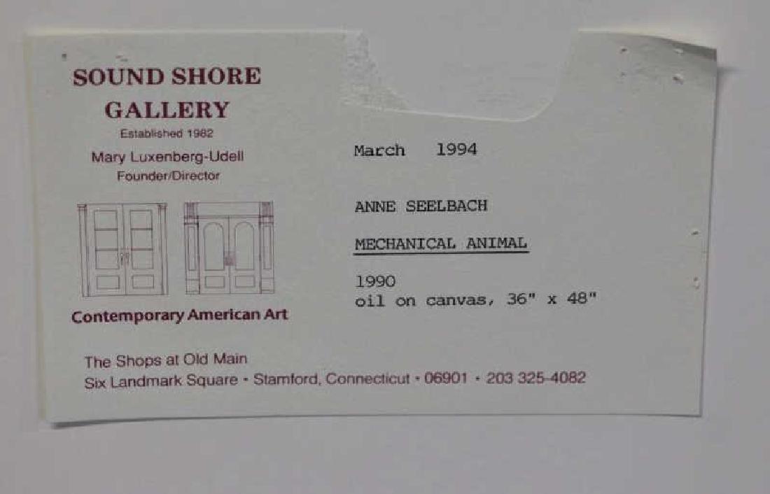 """SEELBACH, Anne. Oil on Canvas. """"Mechanical Animal"""" - 5"""