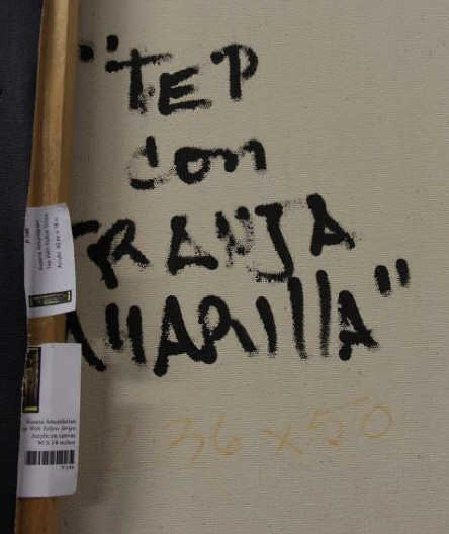 """AMUNDARAIN, Susana. Acrylic on Canvas. """"Tep with - 7"""