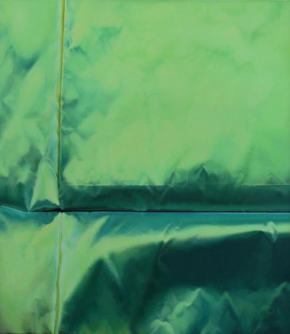 "NAN, Lalani. Oil on Canvas. ""Green No. 1."" 2005."