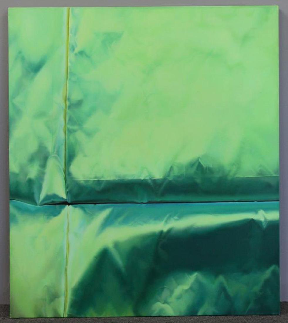 "NAN, Lalani. Oil on Canvas. ""Green No. 1."" 2005. - 2"