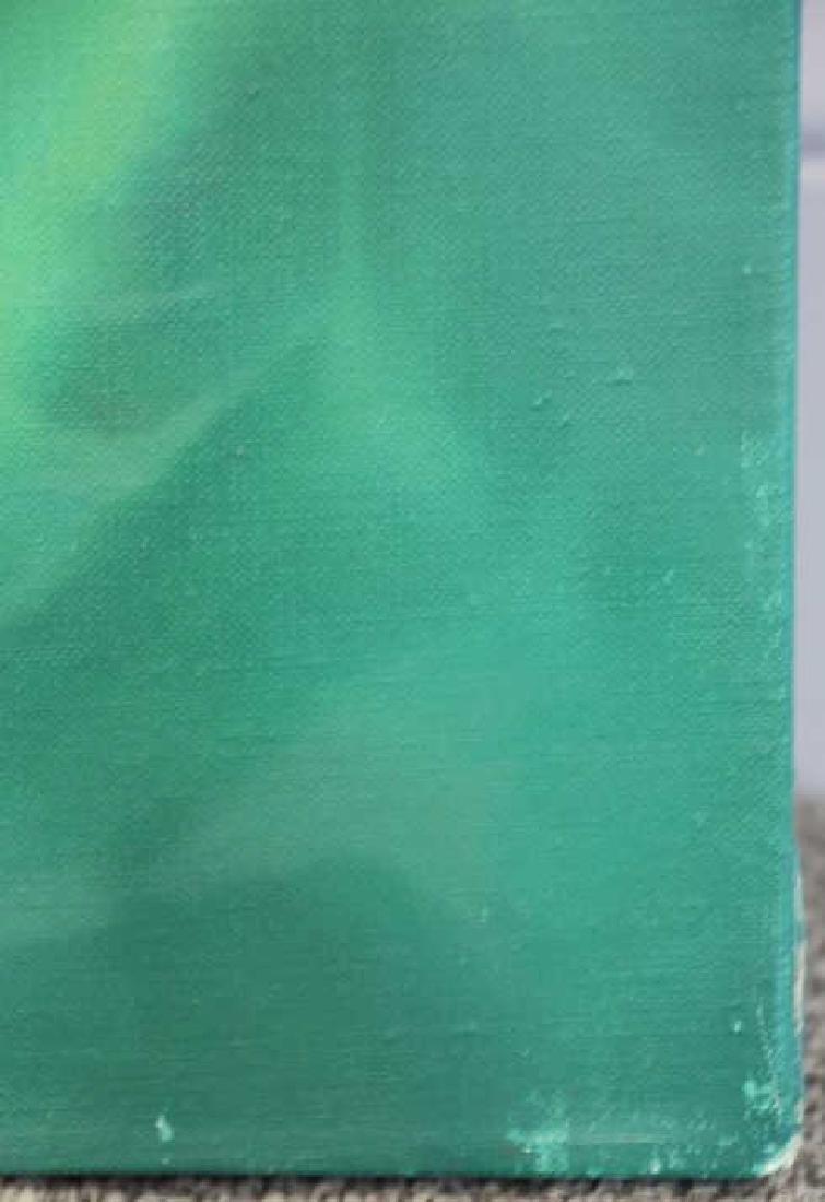 "NAN, Lalani. Oil on Canvas. ""Green No. 1."" 2005. - 5"