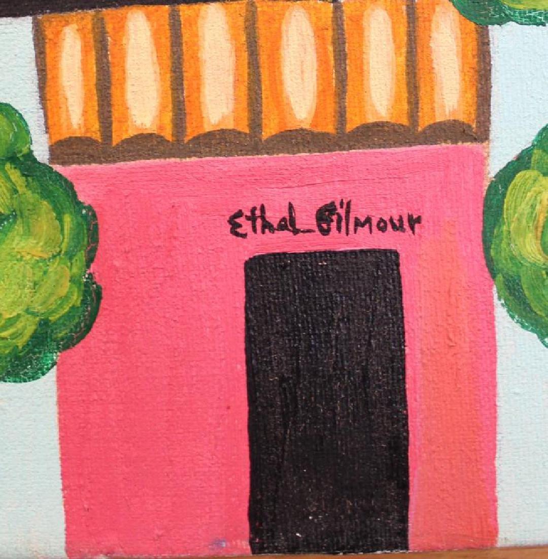 """GILMOUR DE URIBE, Ethel. Oil on Canvas. """"Villa - 4"""