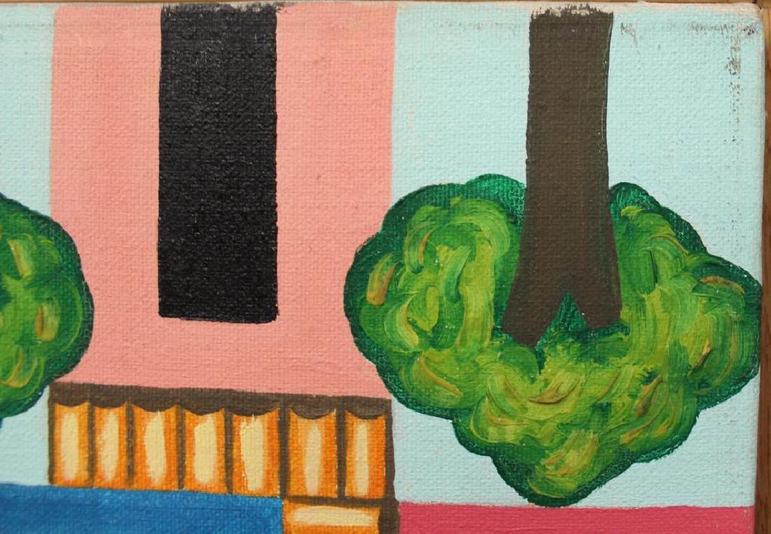 """GILMOUR DE URIBE, Ethel. Oil on Canvas. """"Villa - 6"""