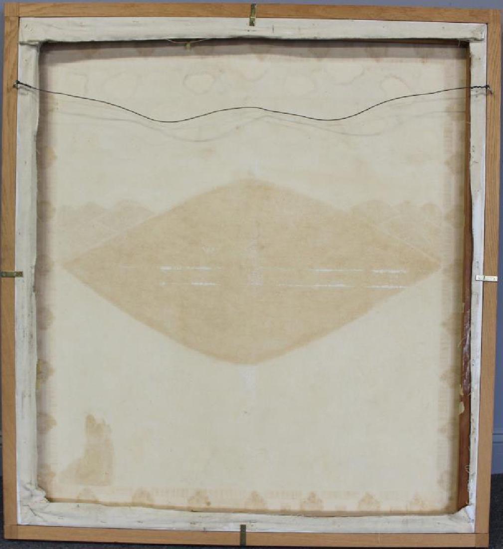 """GILMOUR DE URIBE, Ethel. Oil on Canvas. """"Villa - 7"""