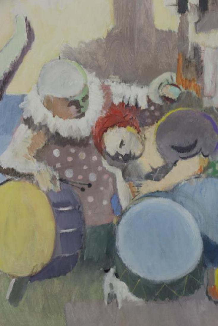 """CASPER, Robert. Oil on Canvas, """"Carnival Group"""" - 3"""
