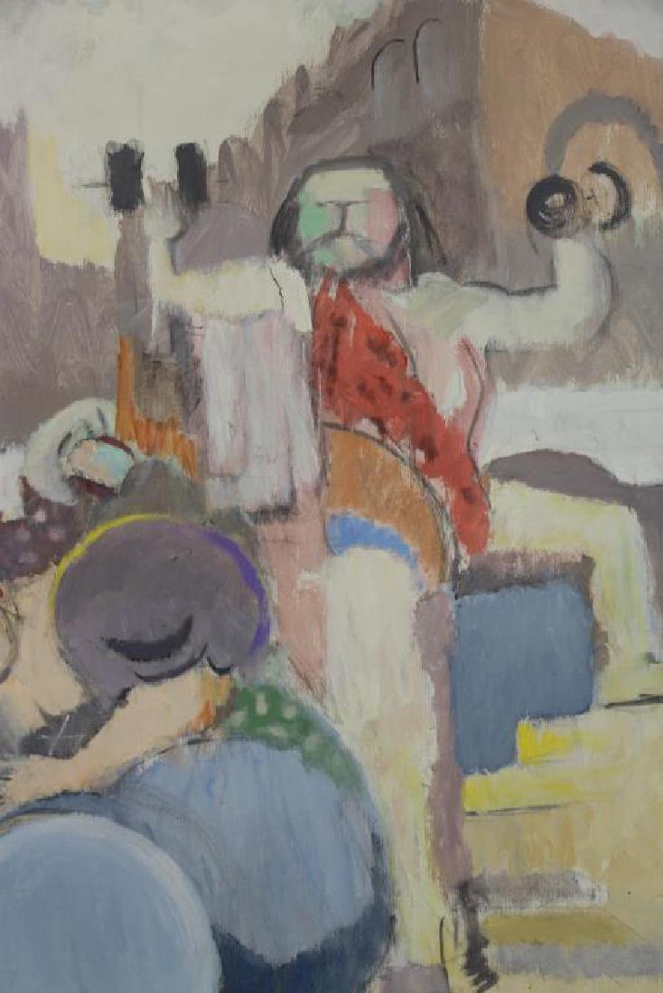 """CASPER, Robert. Oil on Canvas, """"Carnival Group"""" - 4"""