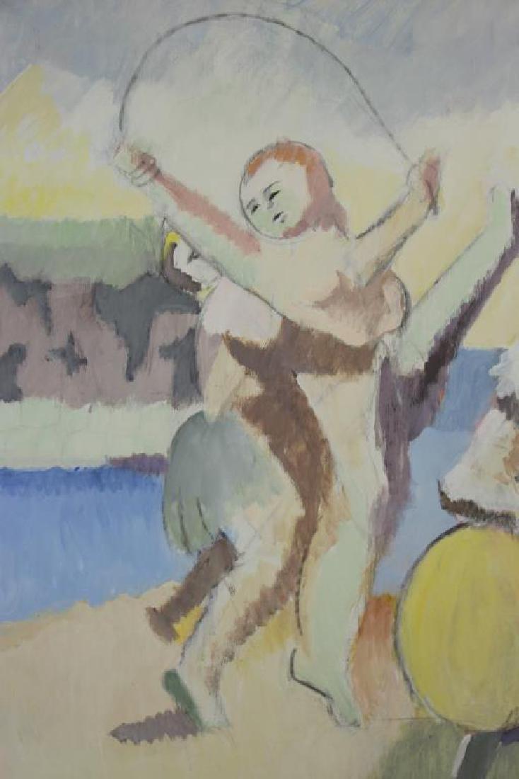 """CASPER, Robert. Oil on Canvas, """"Carnival Group"""" - 5"""