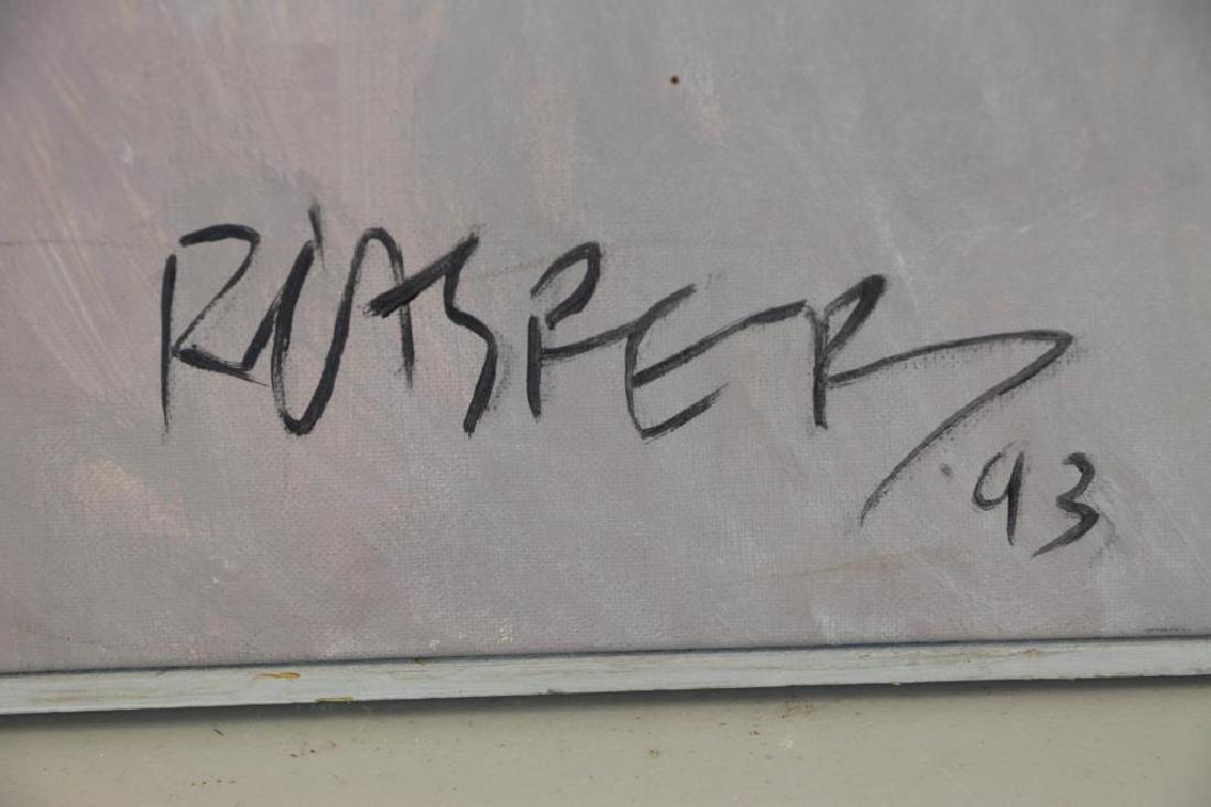 """CASPER, Robert. Oil on Canvas, """"Carnival Group"""" - 6"""