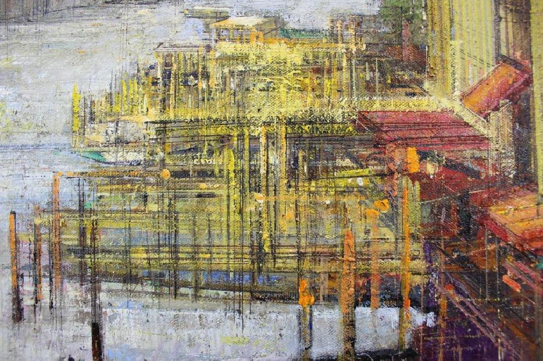 """ZWARENSTEIN, Alex. Oil on Canvas. """"Golden Dawn on - 4"""