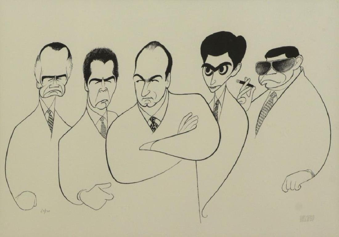 "HIRSCHFELD, Al. Lithograph ""The Sopranos"""