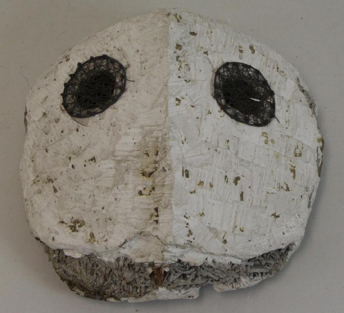 "KEMENY, Zoltan. Plaster on Wood Sculpture ""Face"". - 2"