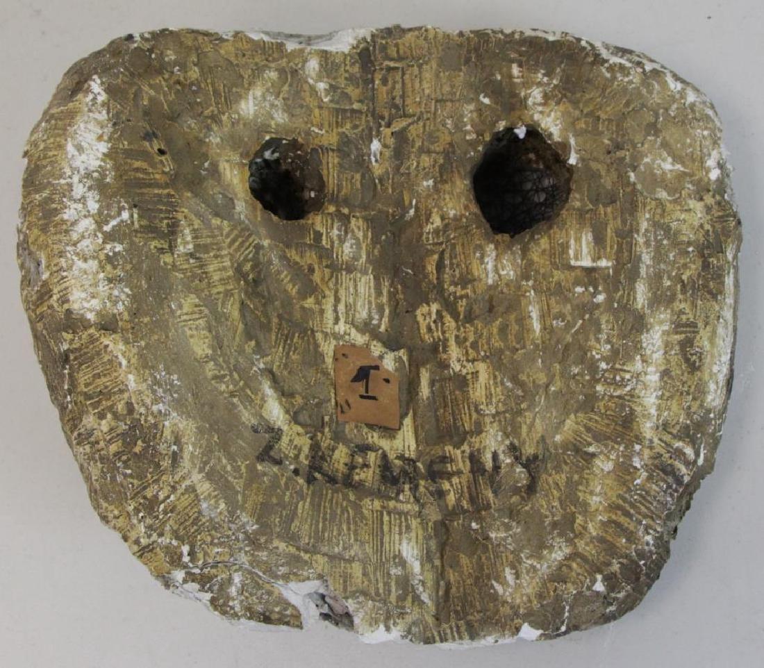 "KEMENY, Zoltan. Plaster on Wood Sculpture ""Face"". - 7"