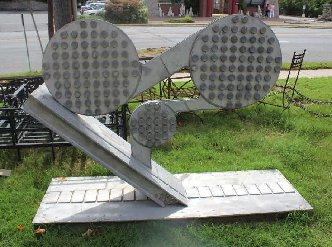 Large Aluminum Abstract Sculpture.