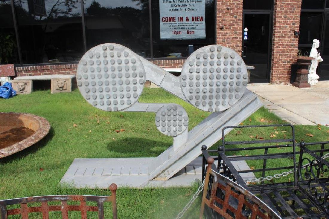 Large Aluminum Abstract Sculpture. - 3