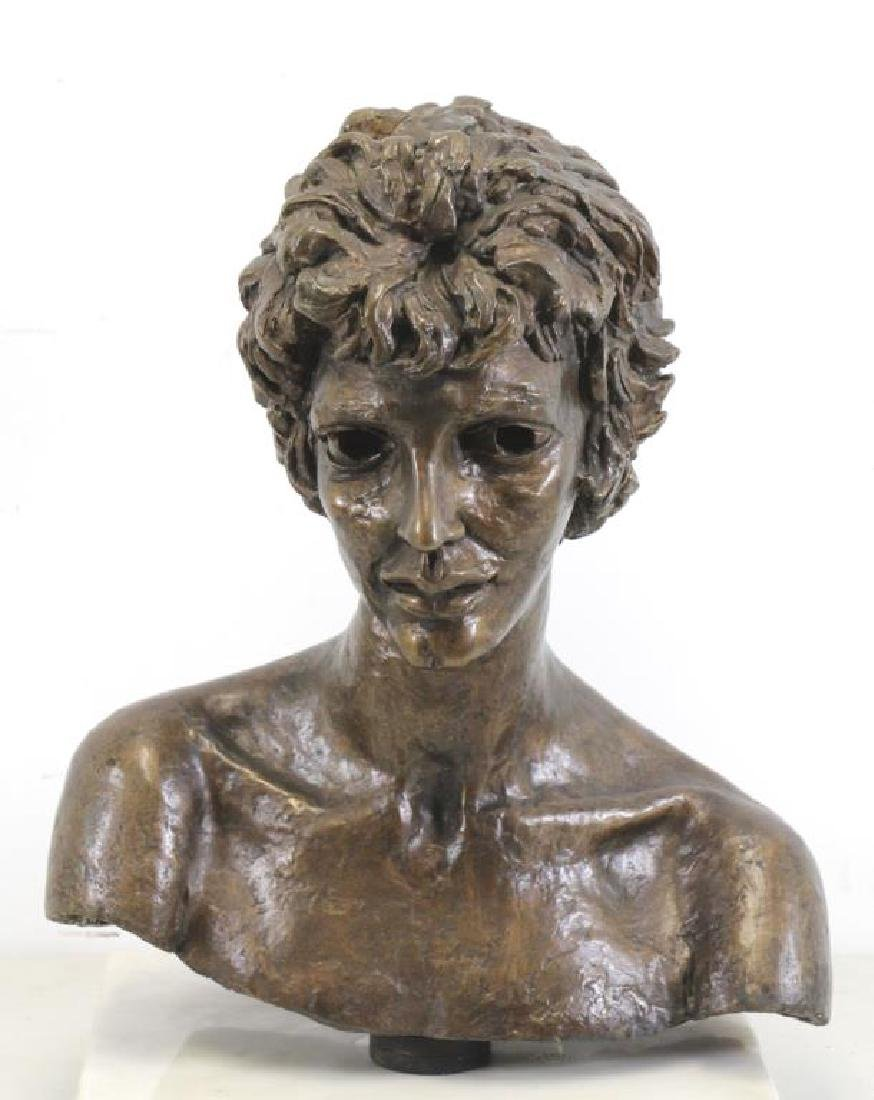 "EPSTEIN, Jacob. ""Third Portrait of Kitty"". Bronze Bust."