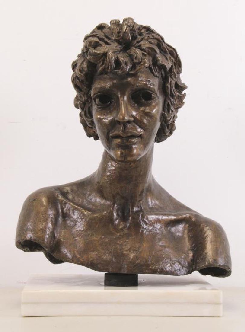 "EPSTEIN, Jacob. ""Third Portrait of Kitty"". Bronze Bust. - 2"