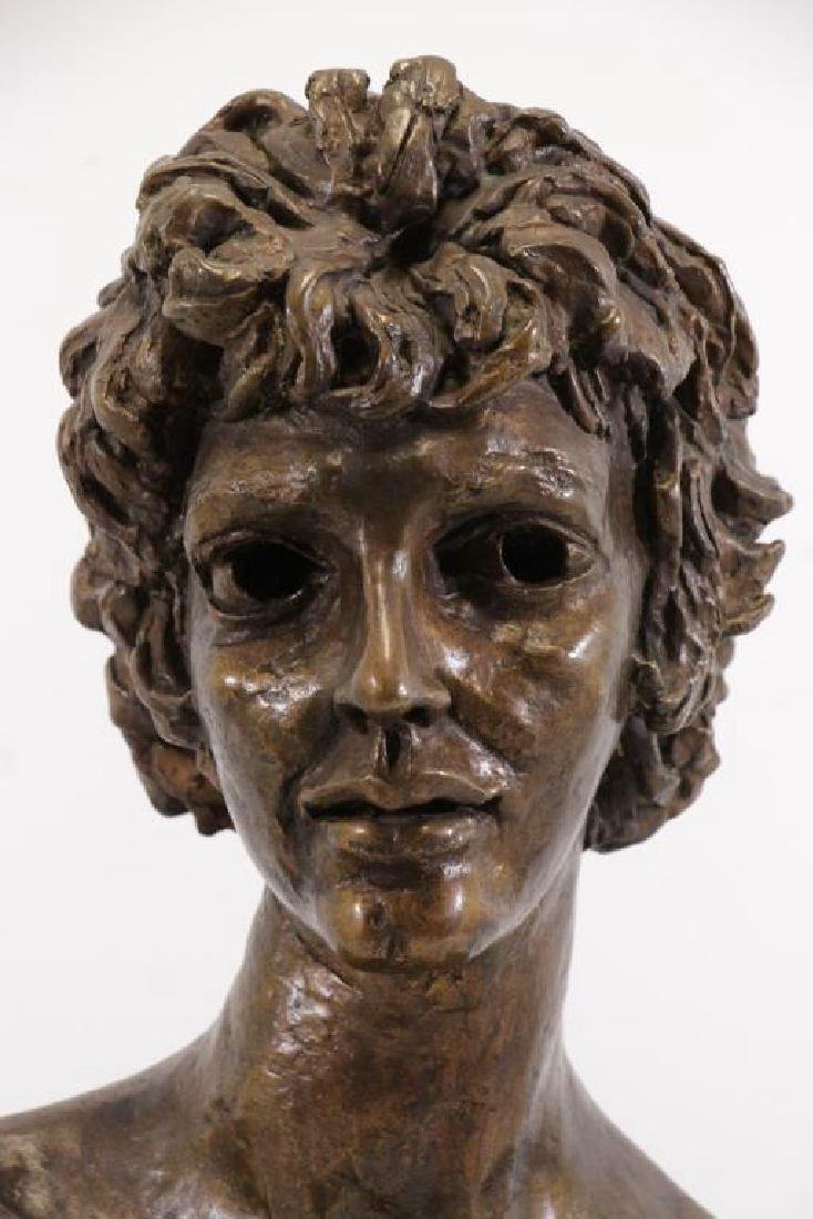 "EPSTEIN, Jacob. ""Third Portrait of Kitty"". Bronze Bust. - 3"