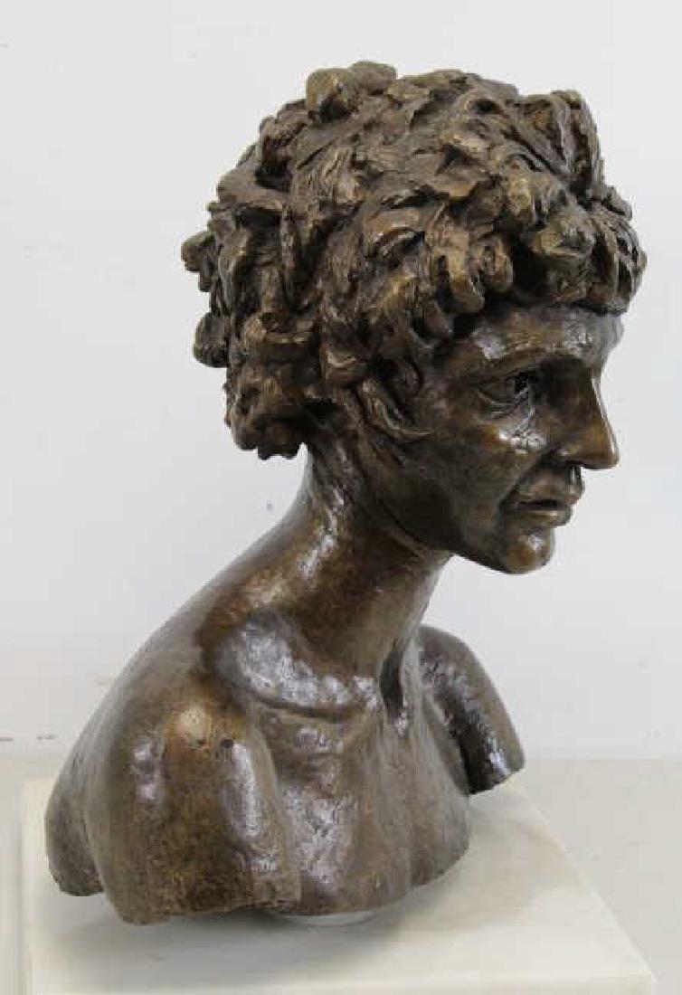 "EPSTEIN, Jacob. ""Third Portrait of Kitty"". Bronze Bust. - 5"