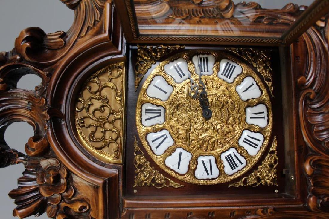 Italian Rococo Carved Wood Tallcase Clock - 4