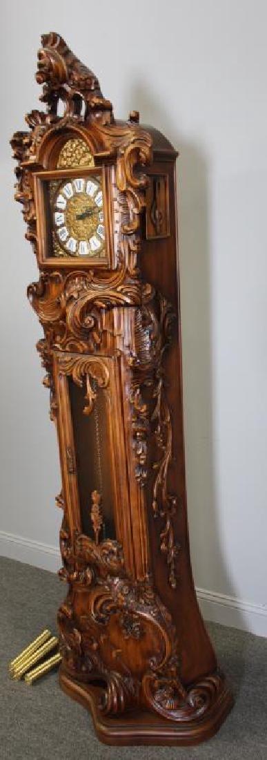 Italian Rococo Carved Wood Tallcase Clock - 5